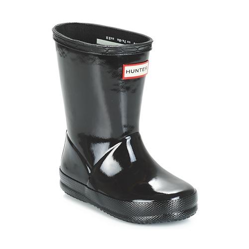 Shoes Children Wellington boots Hunter KIDS FIRST CLASSIC GLOSS Black