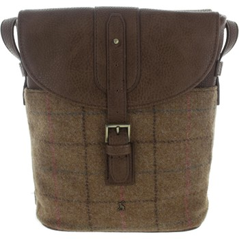 Bags Women Messenger bags Joules Tourer Tweed Tan Check