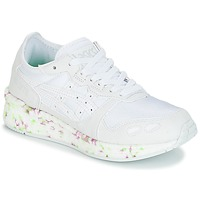 Shoes Children Low top trainers Asics HYPER GEL-LYTE GS White / Pink / Green