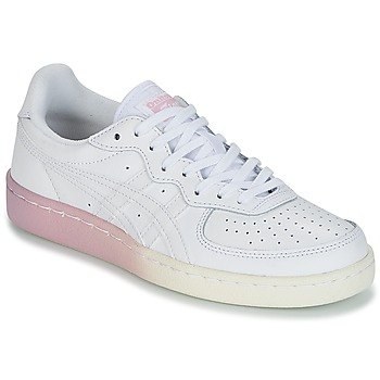 Shoes Women Low top trainers Onitsuka Tiger GSM LEATHER White / Pink