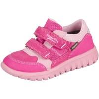 Shoes Children Low top trainers Superfit Sport Mini Pink Kombi Velour Tecno Textil Pink
