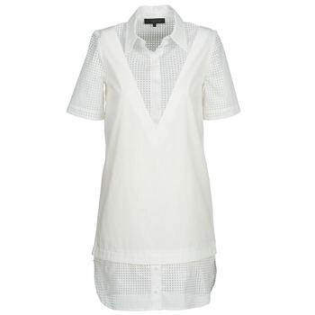 Clothing Women Short Dresses American Retro CHARLOTTE White