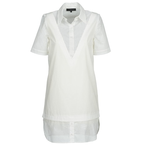 Clothing Women Short Dresses American Retro CHARLOTTE White