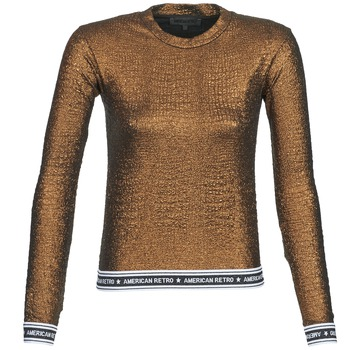 Clothing Women Long sleeved tee-shirts American Retro ALLAN Gold