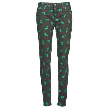 Clothing Women Slim jeans American Retro TINA Black / Green