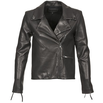 Clothing Women Leather jackets / Imitation leather American Retro LEON JCKT Black