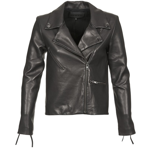 Clothing Women Leather jackets / Imitation leather American Retro LEON JCKT Black