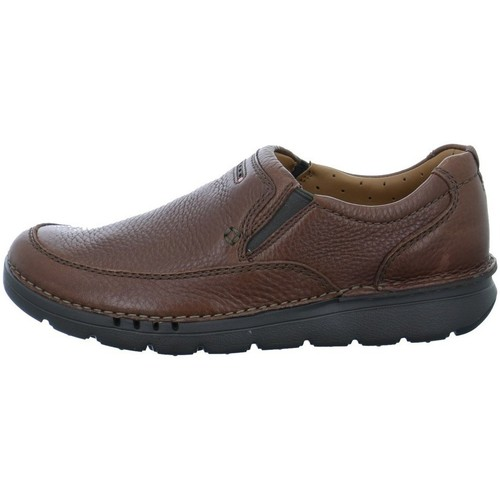 Shoes Men Loafers Clarks Unnature Easy Brown
