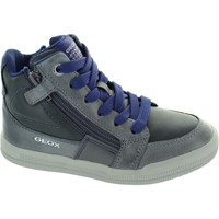 Shoes Children Hi top trainers Geox J Arzach BF DK Grey/Blue