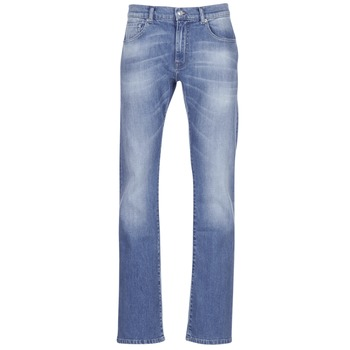 Clothing Men bootcut jeans Yurban IGERAL Blue / Clear
