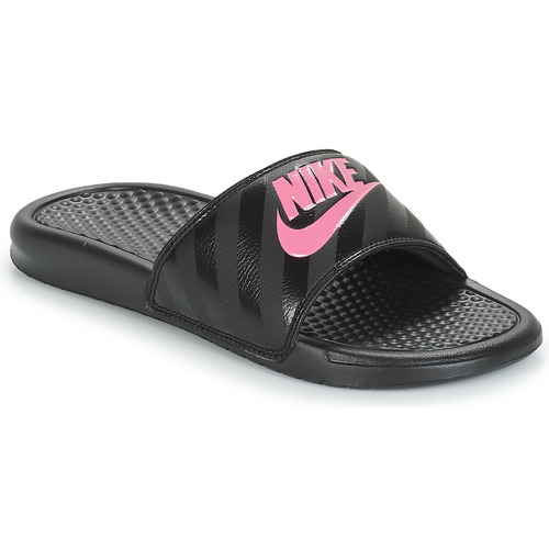 Shoes Women Tap-dancing Nike BENASSI JUST DO IT W Black / Pink