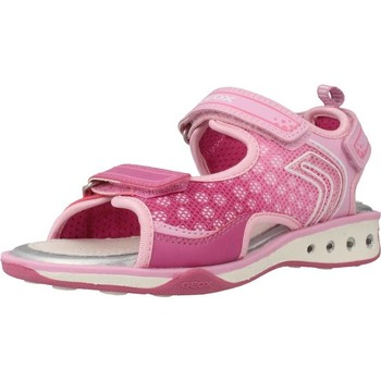 Shoes Girl Sandals Geox JR SANDAL JOCKER Pink