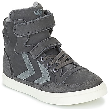 Shoes Children Hi top trainers Hummel STADIL OILED HIGH JR Grey