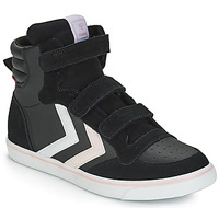 Shoes Girl Hi top trainers Hummel STADIL LEATHER JR Black