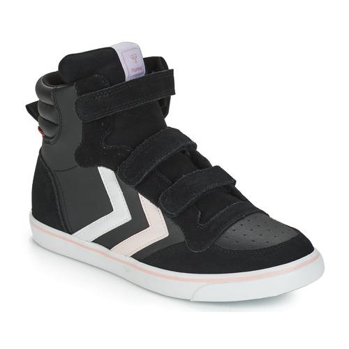 Shoes Girl Hi top trainers Hummel STADIL LEATHER JR Black