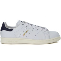 Shoes Men Low top trainers adidas Originals Stan Smith white and blue leather sneakers White