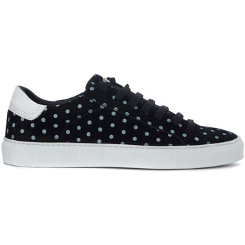 Shoes Men Low top trainers Hide&jack Low Top Pois black leather sneakers Black