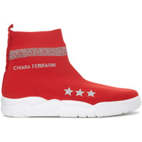 Shoes Women Hi top trainers Chiara Ferragni Chiara Ferragni Active red stocking sneaker Red