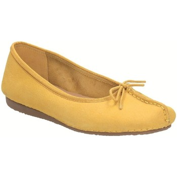 Shoes Women Flat shoes Clarks Freckle Ice Honey Nubuck Yellow