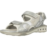 Shoes Girl Sandals Geox JR SANDAL JOCKER Silver