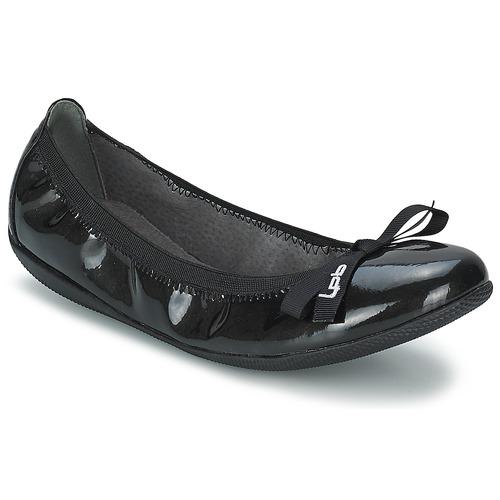 Shoes Women Flat shoes Les Petites Bombes ELLA VERNIS Black