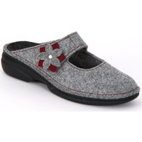 Shoes Women Clogs Finn Comfort Arlberg Light Greycassis Wollfilz Grey