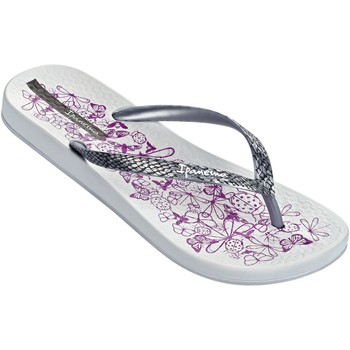 Shoes Women Flip flops Ipanema Nature Flip Flops in White & Silver Flowers Print 81926 White