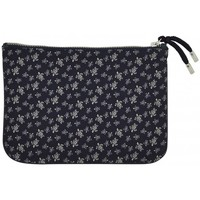 Bags Pouches Vilebrequin Micro Zip pouch bag , Packmin - Micro Round Sea Turtles - Navy Blue