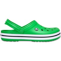 Shoes Clogs Crocs Crocband Clogs Shoes Sandals in Grass Green & White 11016 3E3 Green