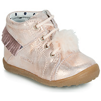 Shoes Girl Hi top trainers Catimini PEPITA Pink