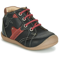 Shoes Boy Hi top trainers Catimini GASTON Black / Red