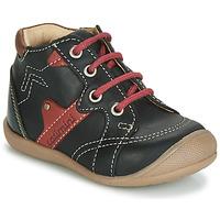Shoes Boy Hi top trainers Catimini GASTON Black / Red