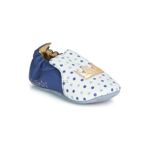 Shoes Girl Slippers Catimini CHIQUETTE Blue / White