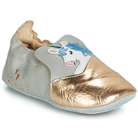 Shoes Girl Slippers Catimini LICORNETTE Grey / Gold
