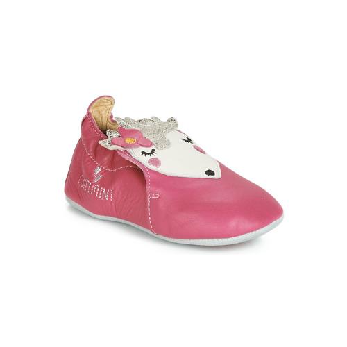 Shoes Girl Slippers Catimini HERISSETTE Pink