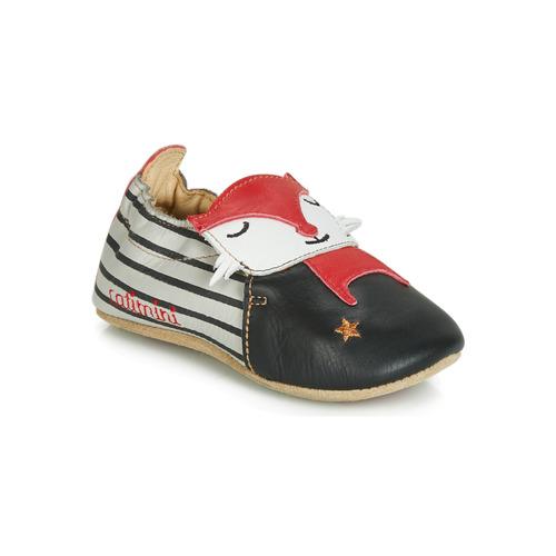 Shoes Boy Slippers Catimini RENARDOU Black / Grey / Red