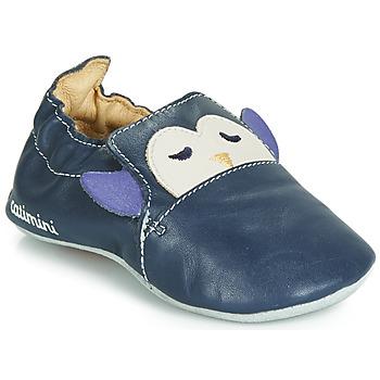 Shoes Boy Baby slippers Catimini PINGOU Marine / Ecru