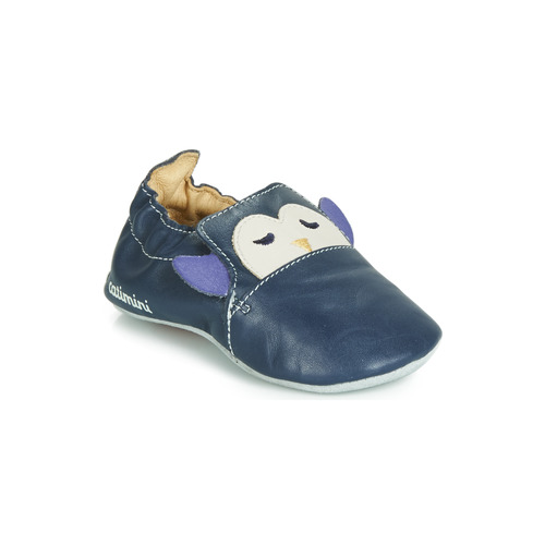 Shoes Boy Slippers Catimini PINGOU Marine / Ecru