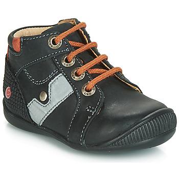 Shoes Boy Hi top trainers GBB REGIS Black / Orange