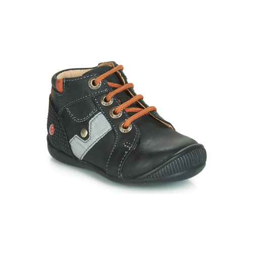 Shoes Boy Hi top trainers GBB REGIS Black / Orange