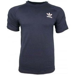 Clothing Men short-sleeved t-shirts adidas Originals 3 Stripes Tee blue
