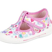 Shoes Children Low top trainers Superfit Bully Weiss Kombi Textil Pink