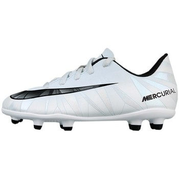 Shoes Children Football shoes Nike JR Mercurial Vortex Iii CR7 FG White Black