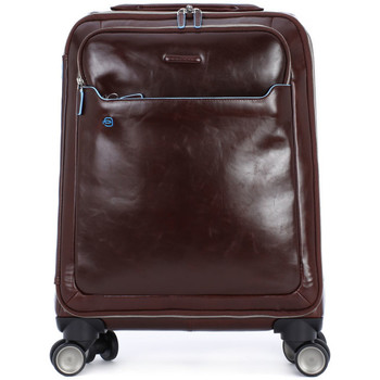 Bags Men Soft Suitcases Piquadro TROLLEY CABINA Marrone