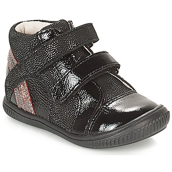 Shoes Girl Hi top trainers GBB ROXANE Black / Silver