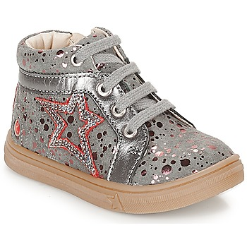 Shoes Girl Hi top trainers GBB NAVETTE Grey / Pink