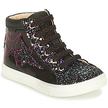 Shoes Girl Hi top trainers GBB MARTA Black / Pink