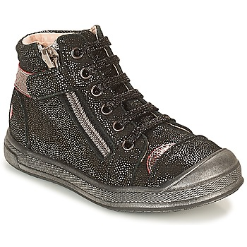 Shoes Girl Hi top trainers GBB DESTINY Black / Glitter