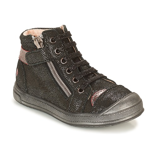 Shoes Girl Hi top trainers GBB DESTINY Black / Glitter