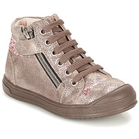 Shoes Girl Hi top trainers GBB DESTINY Taupe / Bronze